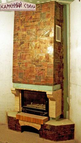 Сланец  римская мозаика, травертин